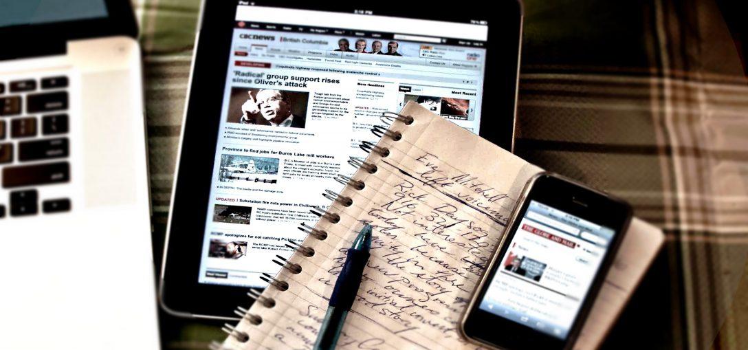 Caderno de jornalista